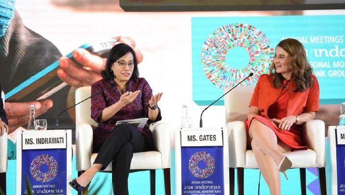 Sri Mulyani Bahas Pemanfaatan Teknologi Bersama Istri Bill Gates